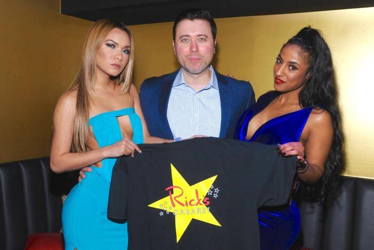Comedian Allan Fuks and Rick's Cabaret New York Girls